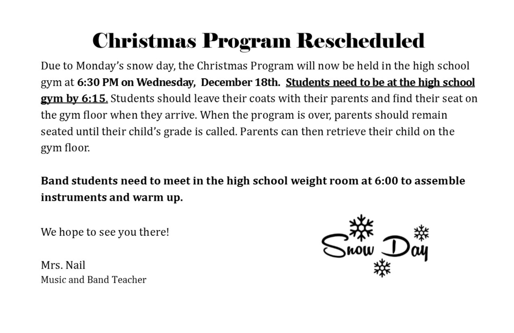 Christmas Music Program