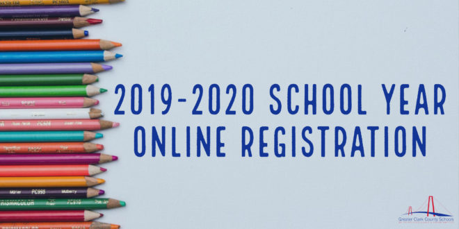 Online Registration for 2019-2020 School Year available July 1-July 31