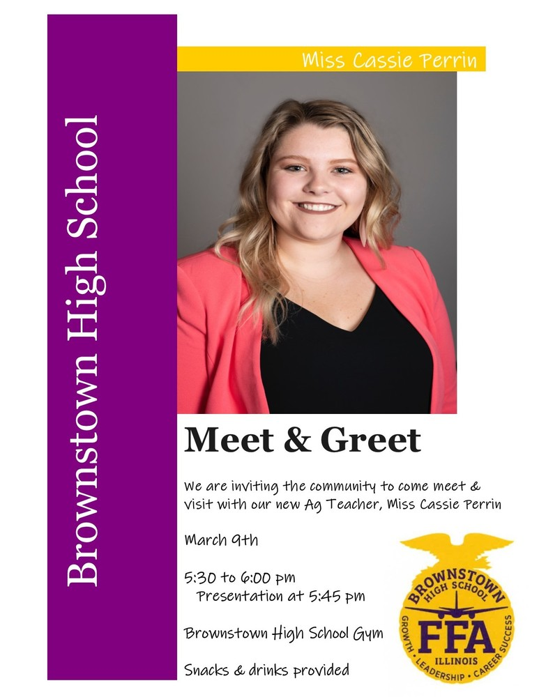 Meet and Greet Ag Teacher Cassie Perrin